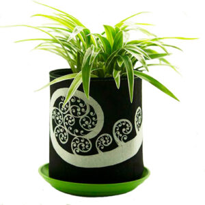 Eco Felt Plant Grow Bag – Black Fern Design