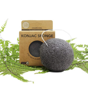Konjac Facial Sponge – Activated Charcoal (For Acne Prone Skin)