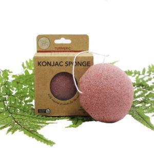 Konjac Facial Sponge – Turmeric (For Dry & Damaged Skin)