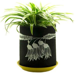 Eco Felt Plant Grow Bag – Black Kowhai Design