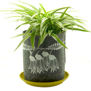 Eco Felt Plant Grow Bag – Grey Kowhai Design