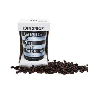 Reusable Cuppa Coffee Cup – Laughter is the Best Medicine