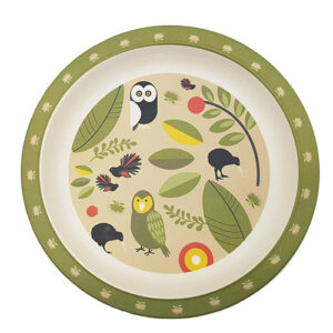 Toodles Noodles Owls and Kiwi Plate