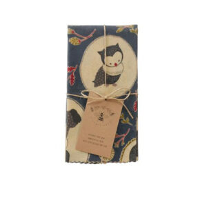Lily Bee Extra Large Reusable Food Wrap-Furano Owls