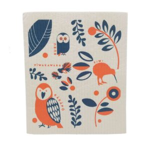 Live Wire NZ Birds Dish Cloth