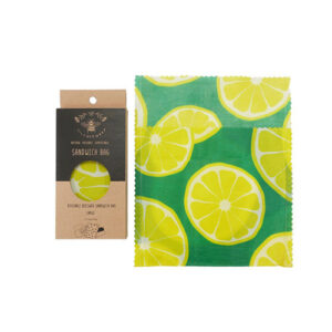 Lily Bee Large Reusable Sandwich Bag-Lemons