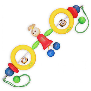 Gepetto Wooden Pram Rattle with Sally Doll