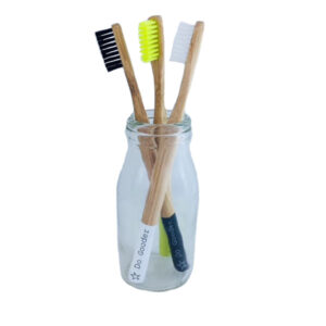 Kids' Bamboo Toothbrush – Black